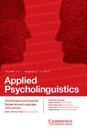 Applied Psycholinguistics Volume 34 - Issue 6 -