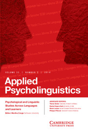 Applied Psycholinguistics Volume 35 - Issue 2 -