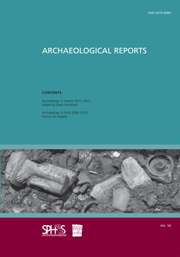 Archaeological Reports Volume 58 - Issue  -