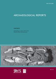 Archaeological Reports Volume 62 - Issue  -