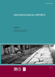 Archaeological Reports Volume 63 - Issue  -