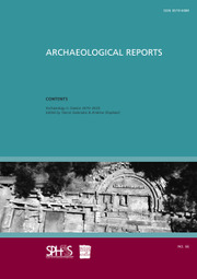 Archaeological Reports Volume 66 - Issue  -