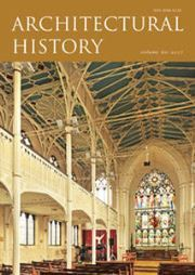 Architectural History Volume 60 - Issue  -