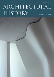 Architectural History Volume 62 - Issue  -