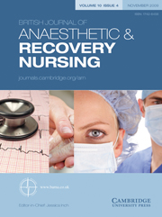 British Journal of Anaesthetic & Recovery Nursing Volume 10 - Issue 4 -