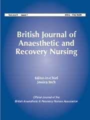 British Journal of Anaesthetic & Recovery Nursing Volume 8 - Issue 1 -
