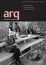 arq: Architectural Research Quarterly Volume 13 - Issue 2 -