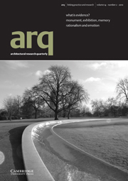 arq: Architectural Research Quarterly Volume 14 - Issue 2 -