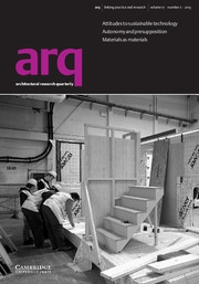 arq: Architectural Research Quarterly Volume 17 - Issue 2 -