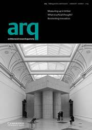 arq: Architectural Research Quarterly Volume 18 - Issue 1 -