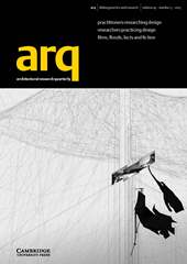 arq: Architectural Research Quarterly Volume 19 - Issue 3 -