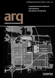 arq: Architectural Research Quarterly Volume 21 - Issue 1 -