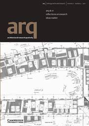 arq: Architectural Research Quarterly Volume 21 - Issue 4 -