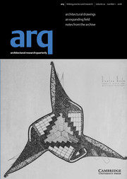 arq: Architectural Research Quarterly Volume 22 - Issue 1 -