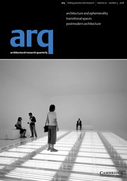 arq: Architectural Research Quarterly Volume 22 - Issue 3 -