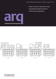 arq: Architectural Research Quarterly Volume 23 - Issue 3 -