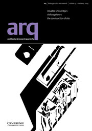 arq: Architectural Research Quarterly Volume 23 - Issue 4 -