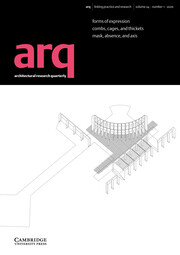 arq: Architectural Research Quarterly Volume 24 - Issue 1 -