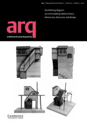 arq: Architectural Research Quarterly Volume 24 - Issue 3 -