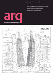 arq: Architectural Research Quarterly Volume 24 - Issue 4 -