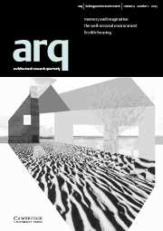 arq: Architectural Research Quarterly Volume 9 - Issue 2 -