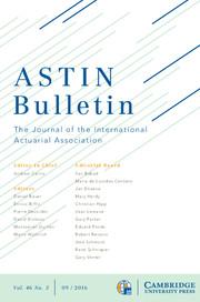 ASTIN Bulletin: The Journal of the IAA Volume 46 - Issue 3 -