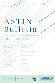 ASTIN Bulletin: The Journal of the IAA Volume 48 - Issue 2 -