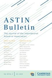 ASTIN Bulletin: The Journal of the IAA Volume 49 - Issue 2 -