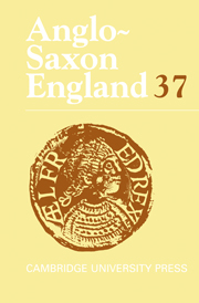 Anglo-Saxon England Volume 37 - Issue  -