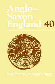 Anglo-Saxon England Volume 40 - Issue  -