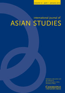 International Journal of Asian Studies Volume 12 - Issue 1 -