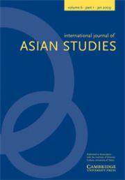 International Journal of Asian Studies Volume 6 - Issue 1 -