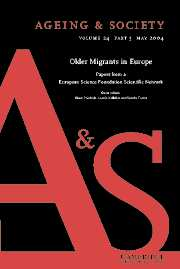 Ageing & Society Volume 24 - Issue 3 -