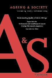 Ageing & Society Volume 24 - Issue 5 -