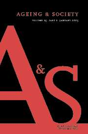 Ageing & Society Volume 25 - Issue 1 -