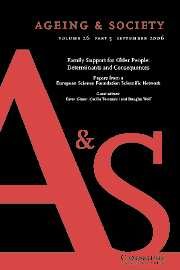 Ageing & Society Volume 26 - Issue 5 -