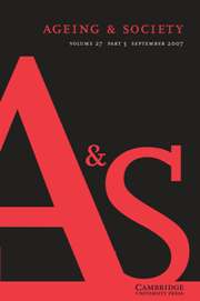 Ageing & Society Volume 27 - Issue 5 -
