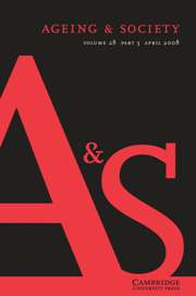 Ageing & Society Volume 28 - Issue 3 -