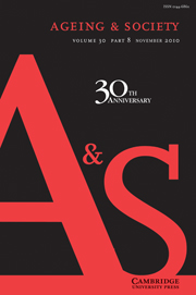 Ageing & Society Volume 30 - Issue 8 -