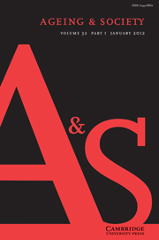 Ageing & Society Volume 32 - Issue 1 -