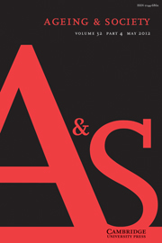 Ageing & Society Volume 32 - Issue 4 -