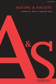 Ageing & Society Volume 33 - Issue 2 -