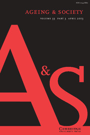 Ageing & Society Volume 33 - Issue 3 -