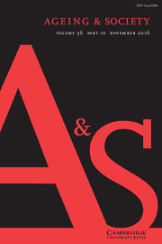 Ageing & Society Volume 36 - Issue 10 -