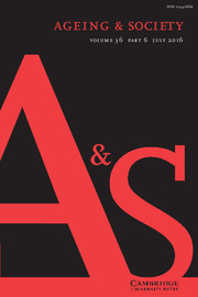 Ageing & Society Volume 36 - Issue 6 -