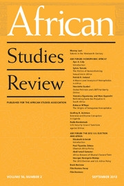 African Studies Review Volume 56 - Issue 2 -