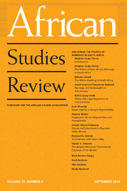 African Studies Review Volume 57 - Issue 2 -