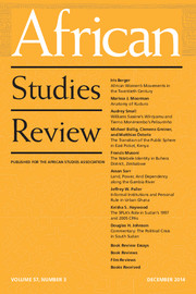 African Studies Review Volume 57 - Issue 3 -