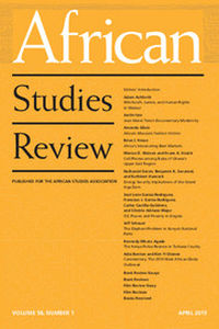 African Studies Review Volume 58 - Issue 1 -