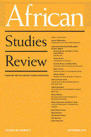 African Studies Review Volume 58 - Issue 2 -
